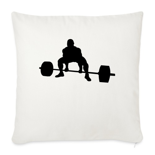 """Powerlifting - Throw Pillow Cover 17.5"""" x 17.5"""""""