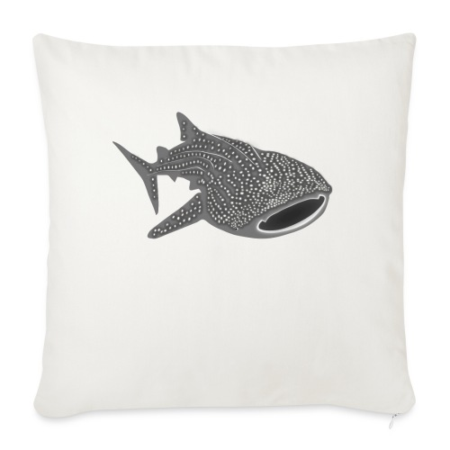 """save the whale shark sharks fish dive diver diving - Throw Pillow Cover 17.5"""" x 17.5"""""""