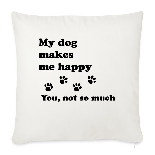 """love dog 2 - Throw Pillow Cover 18"""" x 18"""""""