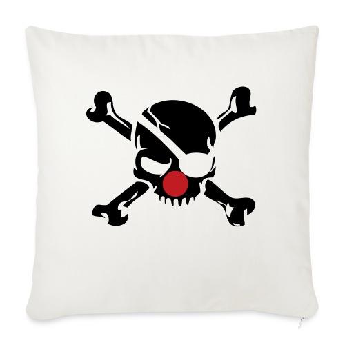 "Jolly Roger Clown - Throw Pillow Cover 18"" x 18"""