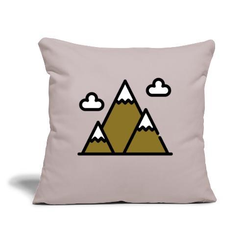 "The Mountains - Throw Pillow Cover 17.5"" x 17.5"""