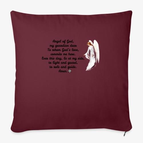 "Guardian Angel prayer - Throw Pillow Cover 17.5"" x 17.5"""