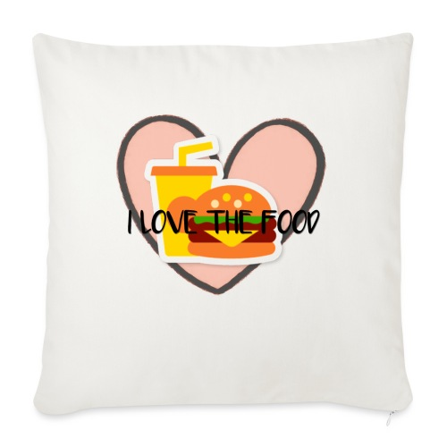 "Food - Throw Pillow Cover 18"" x 18"""