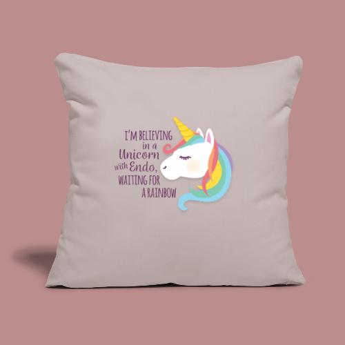 """Believing in a Unicorn - Throw Pillow Cover 17.5"""" x 17.5"""""""