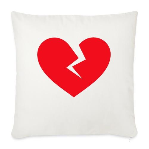 "Broken Heart - Throw Pillow Cover 17.5"" x 17.5"""