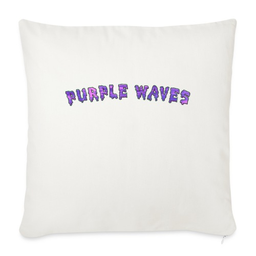 "Purple Waves - Throw Pillow Cover 18"" x 18"""