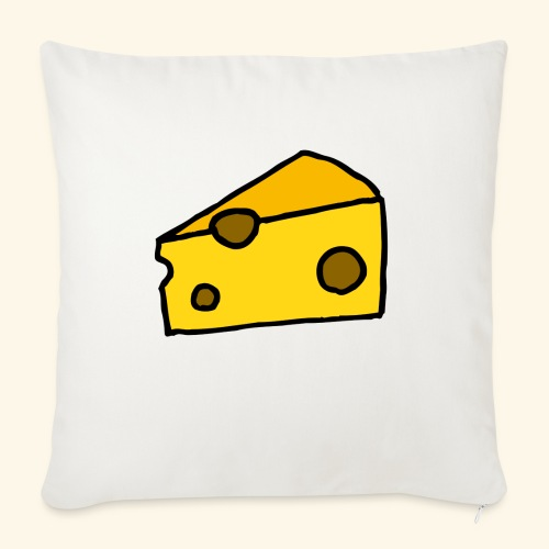 "Cheese - Throw Pillow Cover 18"" x 18"""