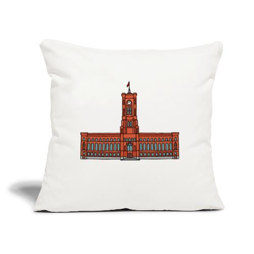 """Red City Hall Berlin - Throw Pillow Cover 17.5"""" x 17.5"""""""