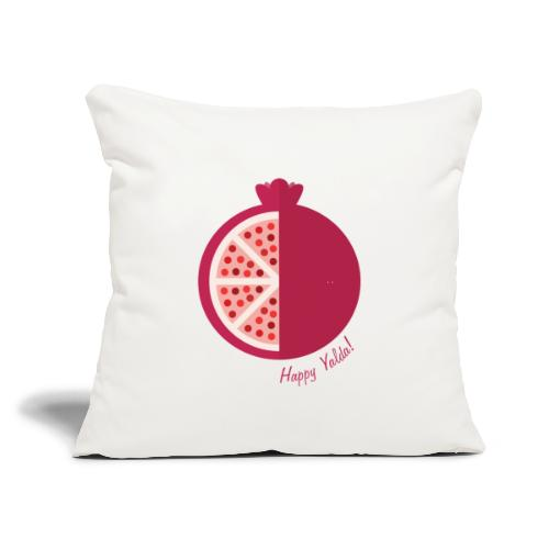 "Happy yalda Pomegranate - Throw Pillow Cover 18"" x 18"""