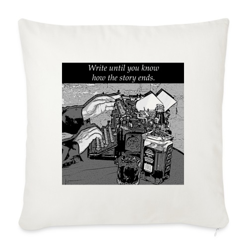 """Write Your Own Story! - Throw Pillow Cover 17.5"""" x 17.5"""""""