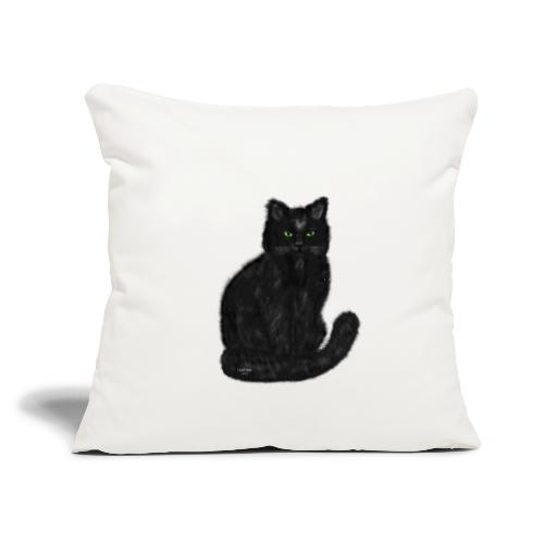 """Cat Isabeau - Throw Pillow Cover 17.5"""" x 17.5"""""""