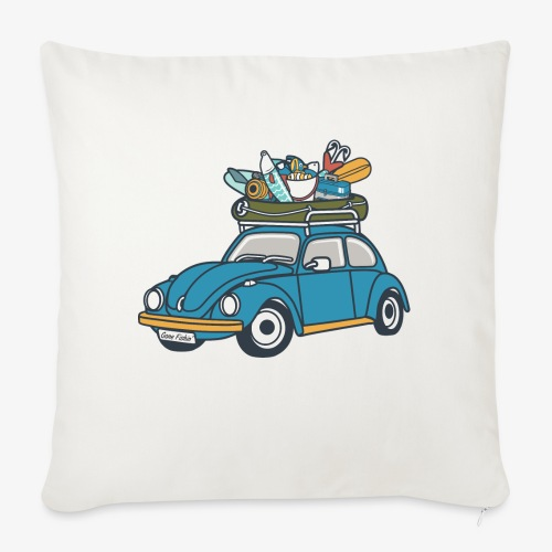 "Gone Fishin' - Throw Pillow Cover 18"" x 18"""