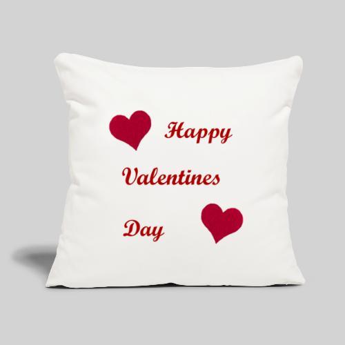 "Red Heart Throw Pillow White - Throw Pillow Cover 17.5"" x 17.5"""