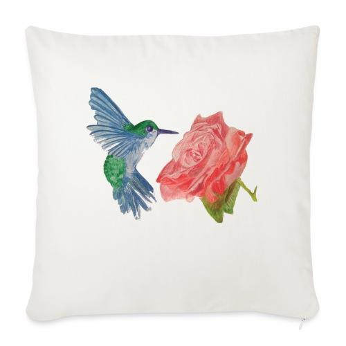 """Hummingbird - Throw Pillow Cover 17.5"""" x 17.5"""""""