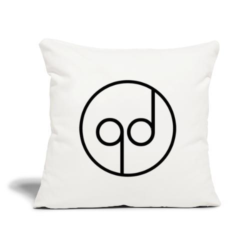 """Black Icon - Throw Pillow Cover 18"""" x 18"""""""