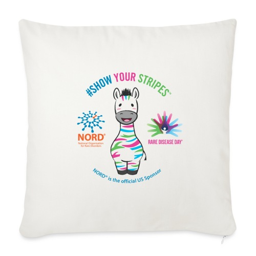 "NORD Rare Disease Day #ShowYourStripes - Throw Pillow Cover 17.5"" x 17.5"""