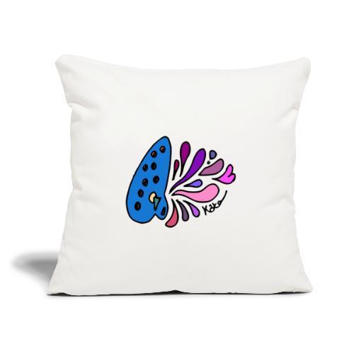 "Mystical Ocarina - Throw Pillow Cover 17.5"" x 17.5"""