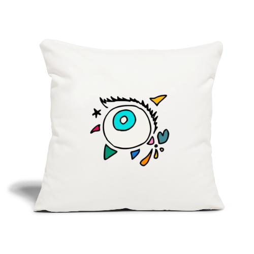 "Punkodylate Eye - Throw Pillow Cover 17.5"" x 17.5"""