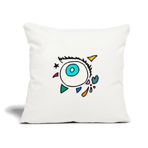 "Punkodylate Eye - Throw Pillow Cover 17.5"" x 17.5"""