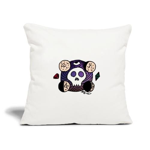 "Moon Skull from Outer Space - Throw Pillow Cover 17.5"" x 17.5"""