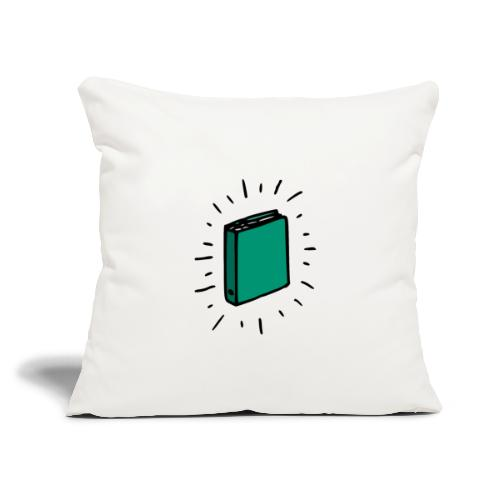 "Book - Throw Pillow Cover 17.5"" x 17.5"""