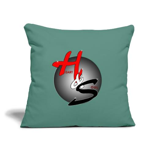"""Heart & Soul Concerts official Brand Logo - Throw Pillow Cover 17.5"""" x 17.5"""""""
