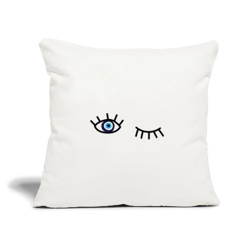 "evil eye - Throw Pillow Cover 17.5"" x 17.5"""