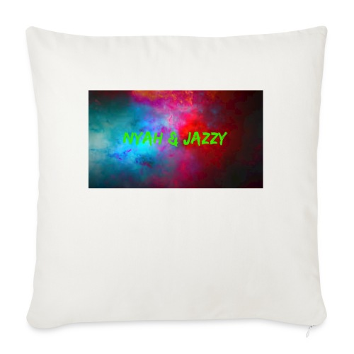 "NYAH AND JAZZY - Throw Pillow Cover 18"" x 18"""