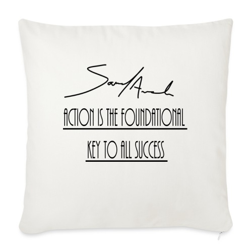 """Action is the foundational key to all success - Throw Pillow Cover 18"""" x 18"""""""