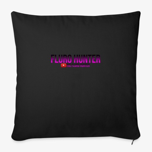 """The Fluro Hunter Black And Purple Gradient - Throw Pillow Cover 17.5"""" x 17.5"""""""