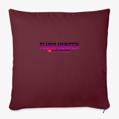 "The Fluro Hunter Black And Purple Gradient - Throw Pillow Cover 17.5"" x 17.5"""