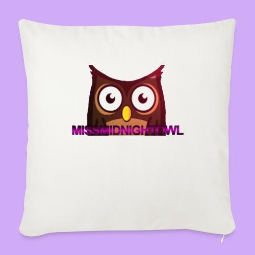 "MissMidnightOwl Pillow Case - Throw Pillow Cover 17.5"" x 17.5"""