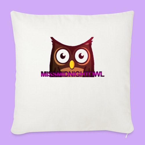 "MissMidnightOwl Pillow Case - Throw Pillow Cover 18"" x 18"""