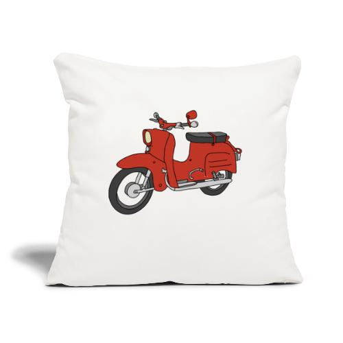 """Schwalbe, ibiza-red scooter from GDR - Throw Pillow Cover 17.5"""" x 17.5"""""""
