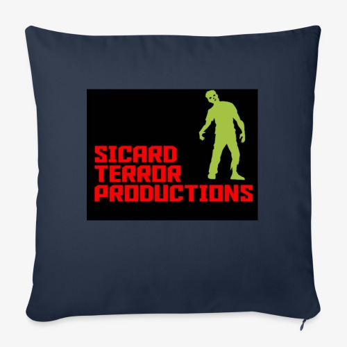 "Sicard Terror Productions Merchandise - Throw Pillow Cover 18"" x 18"""