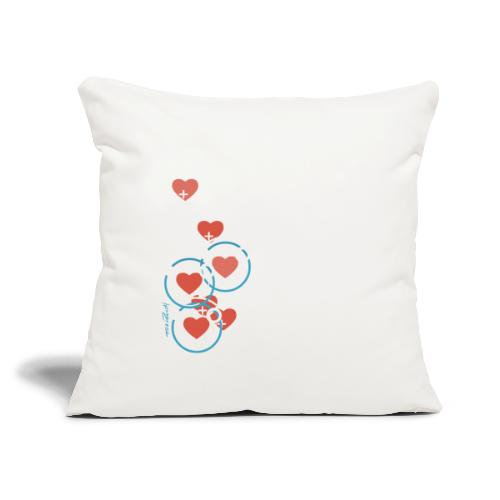 "SuperHearts - Throw Pillow Cover 17.5"" x 17.5"""