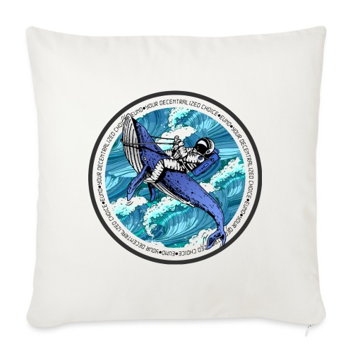 "Astronaut Whale - Throw Pillow Cover 17.5"" x 17.5"""
