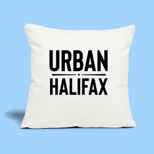 "Urban Halifax logo (Black) - Throw Pillow Cover 17.5"" x 17.5"""