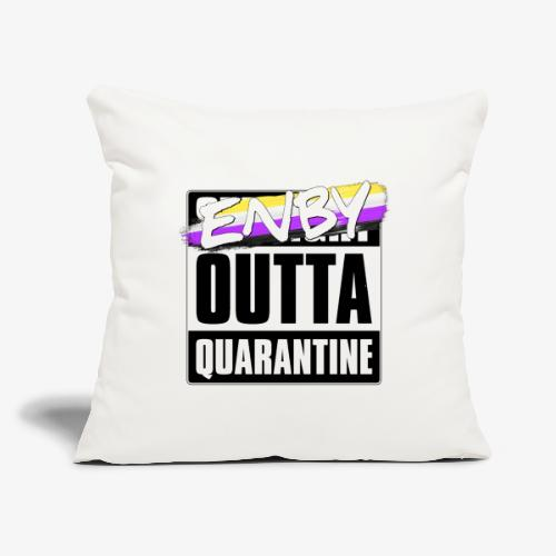 "Enby Outta Quarantine - Nonbinary Pride - Throw Pillow Cover 17.5"" x 17.5"""