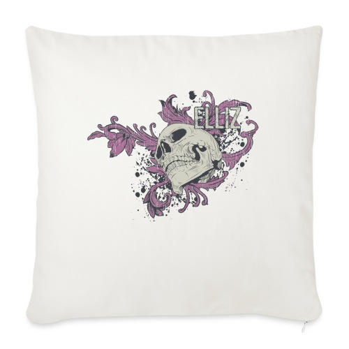 "Ornamental Skull Bandana - Throw Pillow Cover 17.5"" x 17.5"""