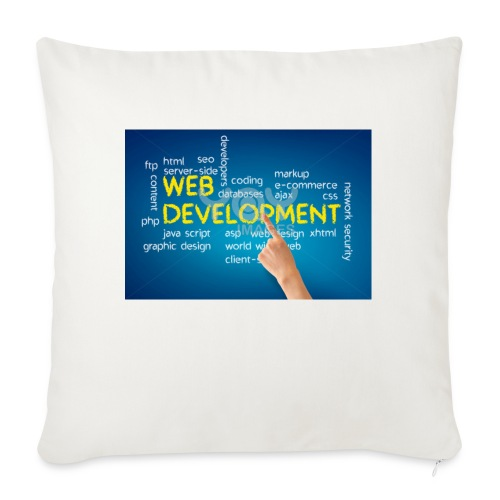 "web development design - Throw Pillow Cover 18"" x 18"""