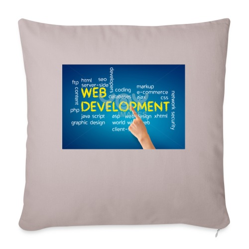 "web development design - Throw Pillow Cover 17.5"" x 17.5"""