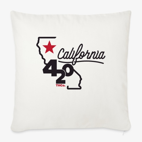 "California 420 - Throw Pillow Cover 17.5"" x 17.5"""