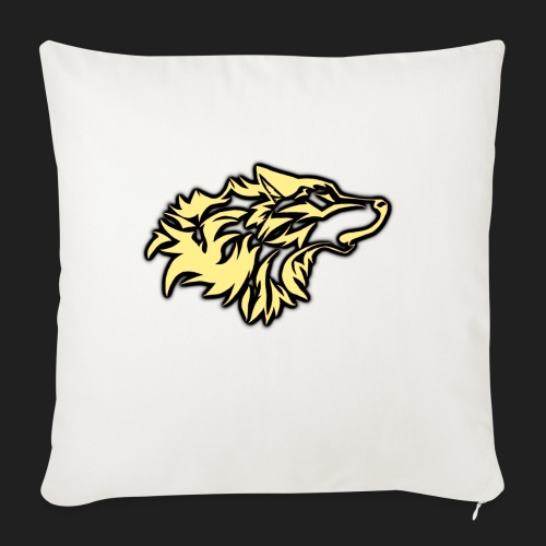 "wolfepacklogobeige png - Throw Pillow Cover 18"" x 18"""