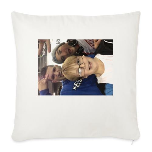 "Me with raka raka - Throw Pillow Cover 17.5"" x 17.5"""