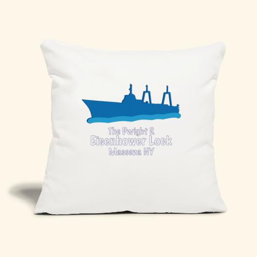 "Eisenhower Lock Blue - Throw Pillow Cover 17.5"" x 17.5"""
