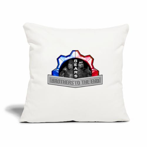 "BROS TO THE END GEARS - Throw Pillow Cover 18"" x 18"""