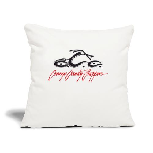 "Orange County Choppers Signature logo - Throw Pillow Cover 18"" x 18"""
