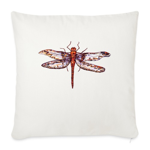 """Dragonfly red - Throw Pillow Cover 17.5"""" x 17.5"""""""