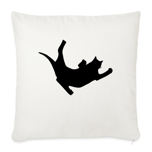 """Fly Cat - Throw Pillow Cover 17.5"""" x 17.5"""""""